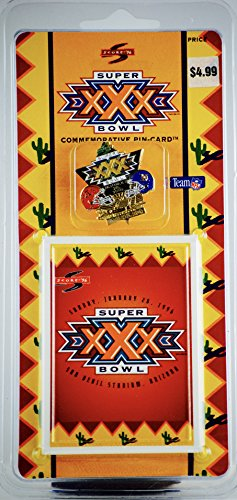 1995 - Pinnacle Brands Inc / Score '96 - Team NFL - Super Bowl XXX - January 28, 1996 - Collectible Pin - Sun Devil Stadium, Arizona - OOP - - 28 Holiday January