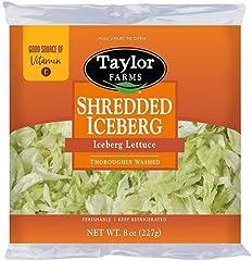 Taylor Farms Shredded Iceberg Lettuce, 8 oz Bag