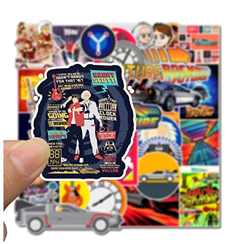 50Pcs Classic Movie Back To The Future Stickers For Luggage Laptop Art Painting DIY Poster Stickers Waterproof Skateboard Toys
