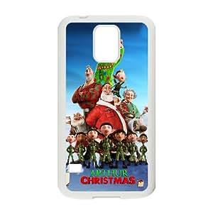 Arthur Christmas alta resolución cartel Samsung Galaxy S5 caja del teléfono celular funda blanca del teléfono celular Funda Cubierta EEECBCAAH72255