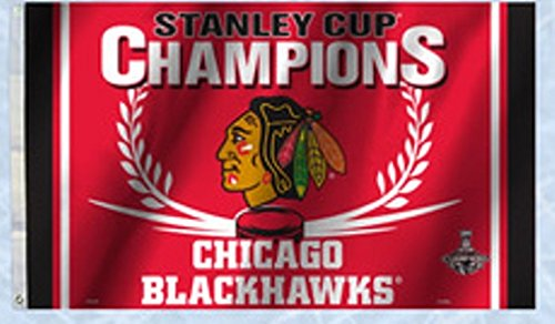 Chicago Blackhawks FD 2015 Champions 3'x5' Flag w/Grommets Outdoor House Banner NHL Hockey Stanley Cup Championship Champs