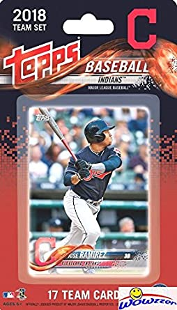 e4e15ed949b Cleveland Indians 2018 Topps Baseball EXCLUSIVE Special Limited Edition 17  Card Complete Team Set with Franciso