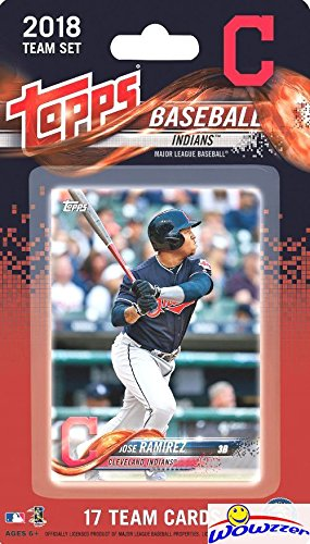 Cleveland Indians 2018 Topps Baseball EXCLUSIVE Special Limited Edition 17 Card Complete Team Set with Franciso Lindor, Jose Ramirez,Corey Kluber & More Stars & RC's! Shipped in Bubble Mailer! WOWZZER Baseball Cards Collectibles