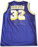 Magic Johnson Signed Autograph Los Angeles Lakers Jersey Purple Blk Ink PSA/DNA