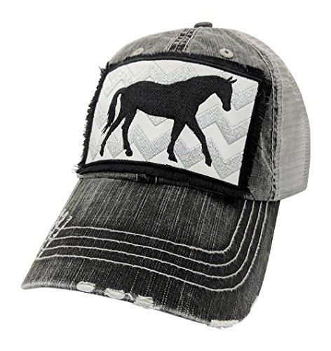 Customized, Horse Baseball Cap, Horse Hat (Grey) ()