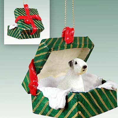 Conversation Concepts Sealyham Terrier Gift Box Green Ornament Sealyham Terrier Dog Figurine