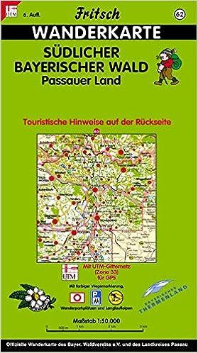 Dreiländereck Bayerischer Wald Karte.Fritsch Karten Nr 62 Südlicher Bayerischer Wald Passauer Land