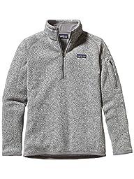 Patagonia  Women\'s  Sweater with 1/4 Zip Fleece - Small - Birch White