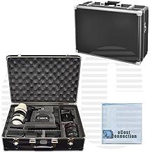 Medium Hard Camera Equipment Case For Canon SL1, EOS-M, 5D, 5D MARK II, 5D MARK III & More... + Microfiber Cloth