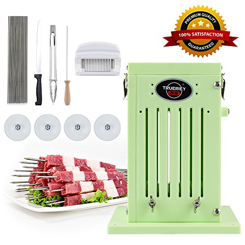 BBQ Accessories Kabob Skewers Maker with Stainless Steel Skewers, Meat Tenderizer Tool, Kitchen Food Tong for Barbecue, BBQ Grill, Shish Kebab (Savannah Kitchen)