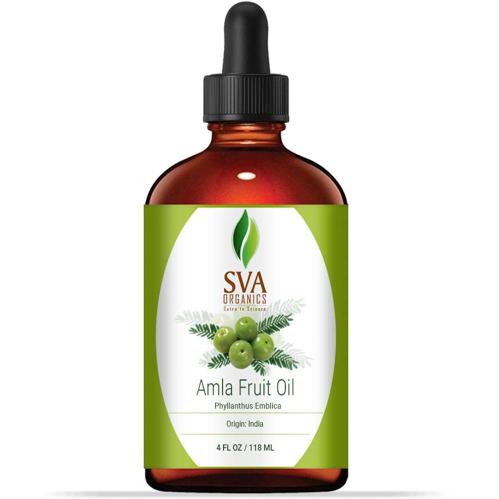 Amla Fruit oil 4 oz(118 ml) 100% pure Therapeutic Grade by SVA ORGANICS - For Rejuvenating Scalp and Hair