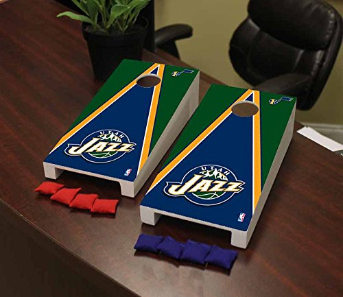 Victory Tailgate Utah Jazz NBA Basketball Desktop Cornhole Game Set Triangle Version (Bag Jazz Utah)