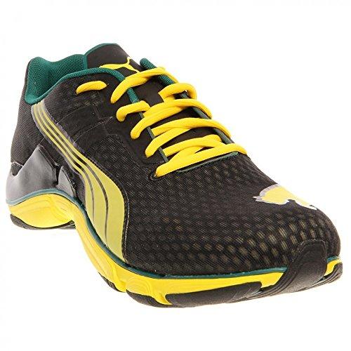 PUMA Men's Mobium Elite NM Running Shoe,Black/Blazing Yellow/Storm,11 D US