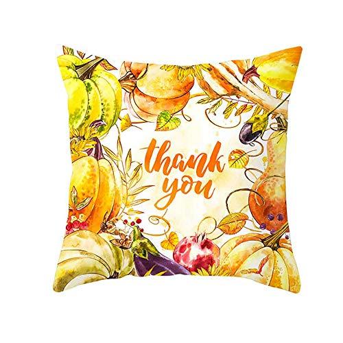 LOKODO Fall Halloween Pumpkin Pillow Case Waist Throw Cushion Cover Sofa Home Decor