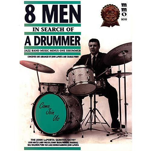 Eight Men in Search of a Drummer Music Minus One Series Softcover with CD Pack of 2 ()