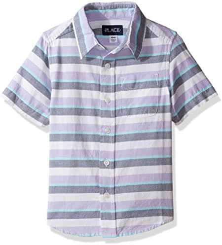 The Children's Place Boys' Striped Oxford Shirt