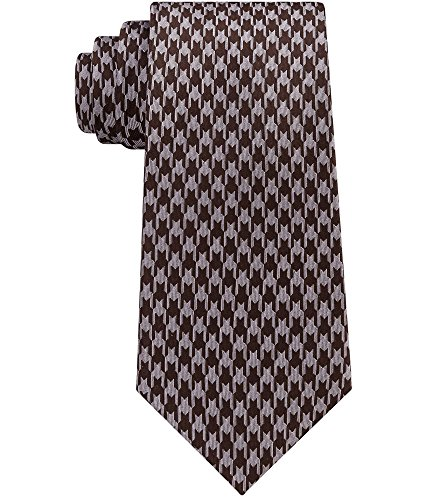 Sean John Mens Silk Houndstooth Neck Tie Brown O/S
