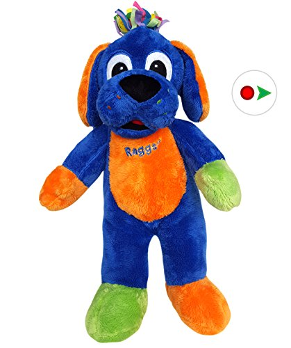 Record Your Own Plush 16 inch Blue Raggs Dog - Ready 2 Love in a Few Easy Steps