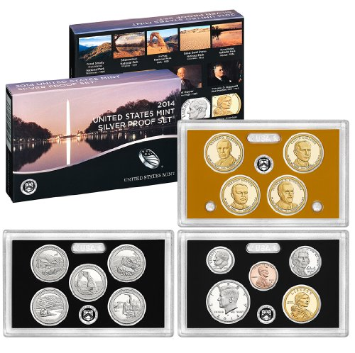 2014 S US Mint Silver Proof Set (SW1) (Us Coins Silver Mint)
