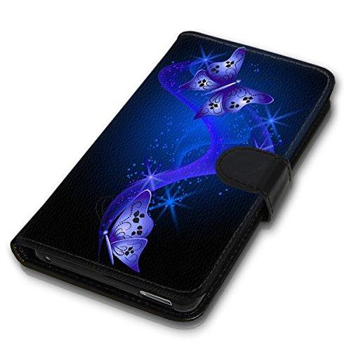 Wallet Book Style Flip Handy Tasche Case Schutz Hülle Schale Motiv Etui für Apple iPhone 4 / 4S - Design Flip MVD414