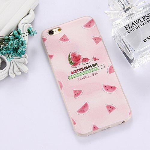 Phone Case & Hülle Für iPhone 6 Plus & 6s Plus TPU bereifte geprägte Wassermelone-Muster-schützende Fall-rückseitige Abdeckung ( Size : Ip6p5304a )