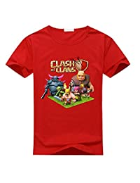 Custom Clash Of Clans Boy's Kids T-Shirt Red L