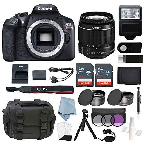 Canon EOS Rebel T6 Bundle With EF-S 18-55mm f/3.5-5.6 IS II Lens + Advanced Accessory Kit – Including EVERYTHING You Need To Get Started