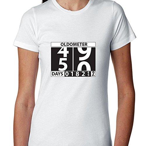 Hollywood Thread Oldometer 50 Happy Birthday odometer Graphic - Women's T-Shirt -