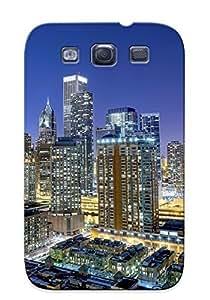 Design For Galaxy S3 Premium Tpu Case Cover Chicago Protective Case