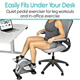 Vive® Pedal Exerciser - Stationary Exercise Leg Peddler - Low Impact, Portable Mini Cycle Bike for Under Your Office Desk - Slim Design for Arm or Foot - Small, Sitdown Recumbent Equipment Machine