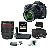 Canon EOS 5D Mark III 22.3 MP Full Frame CMOS Digital SLR Camera with EF 24-105mm f/4 L IS USM Lens + Canon BG-E11 Battery Grip + Canon Gadget Bag + 16GB Accessory Kit