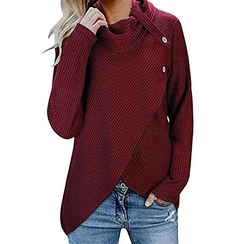 Women's Sweatshirt, Lowprofile Button Long Sleeve Sweater Pullover Tops Pullover ... ()