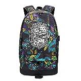 YOURNELO Unisex Harry Potter Multicoloured Hip-hop Rucksack School Backpack Bookbag(Hufflepuff Purple)