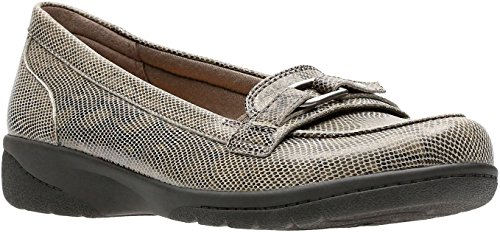 CLARKS Damen Cheyn Marie Slip-On Loafer Grau