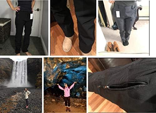 Geval Women's Outdoor Windproof Waterproof Softshell Fleece Snow Pants