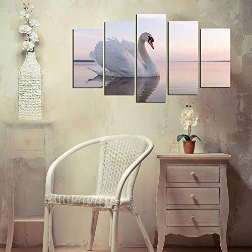 Mdf Decorative Panels (LaModaHome Decorative 100% MDF Wall Art 5 Panels (43