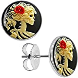 Search : Body Candy Stainless Steel Red Rose Skeleton Stud Earrings