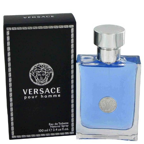 Versace Pour Homme by Versace Gift Set -- 3.4 oz Eau De Toilette Spray + 3.4 oz Shower Gel (Men)
