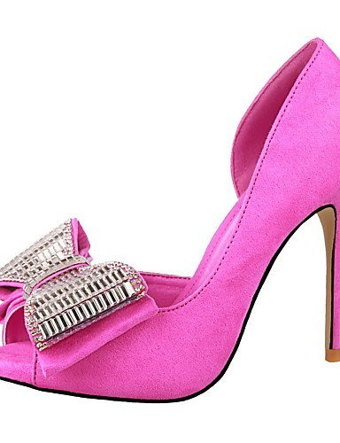 ShangYi Women's Shoes Stiletto Heel Heels/Peep Toe Sandals Casual Black/Yellow/Pink/Red/Gray Pink 8Sj23RTwfW