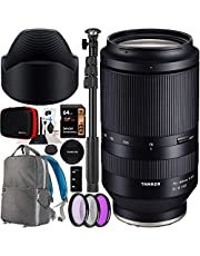 Tamron 70-180mm F/2.8 Di III VXD Sony E-Mount Lens A056 for Full Frame Mirrorless & APS-C Cameras Bundle with Deco Gear Photography Backpack Case + 67mm Filter Kit + 64GB Card + Monopod + Accessories