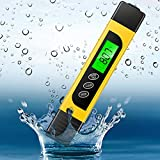 Digital Pool Water Test Kit, Professional 3 in 1 Temperature EC & TDS Meter for Drinking Water Hardness Testing, Aquarium Hydroponics Swimming Pools Tester, Accurate and Reliable, Measure 0-9999 ppm