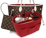 LEXSION Felt Handbag Organizer,Insert purse organizer Fits Speedy Neverfull Red 2XL