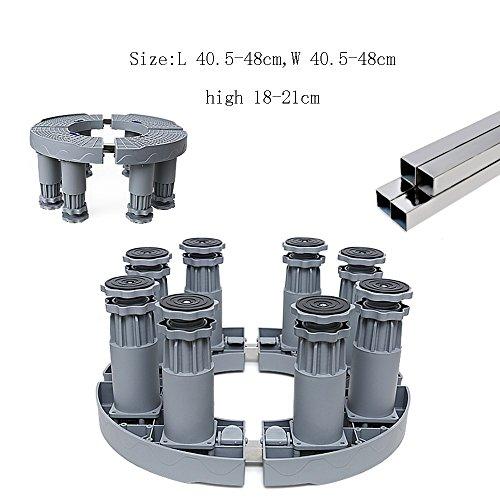 - ZR- Air Conditioning Cabinet Machine Base Bracket Cylindrical Mobile Increase Flower Pot Fish Tank Bracket Height Tripod Universal Wheel (Size : 19cm4 feet)