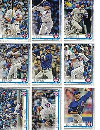 best website a6ba9 897e9 Chicago Cubs/Complete 2019 Topps Series 1 Baseball Team Set ...