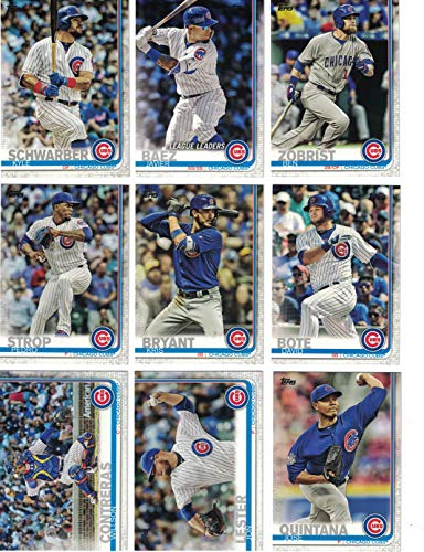 Chicago Cubs/Complete 2019 Topps Series 1 Baseball Team Set! (14 Cards) Includes 25 bonus Cubs Cards!