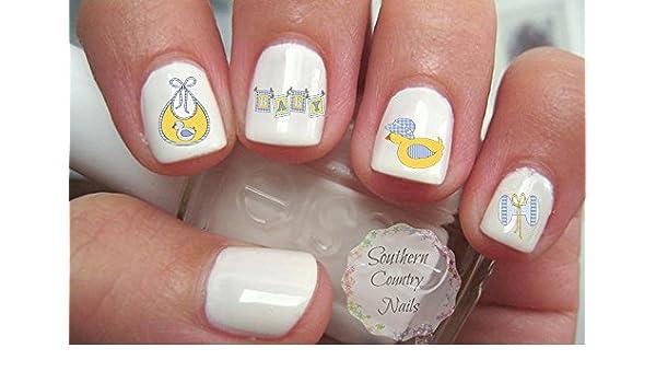 Amazon Com Baby Shower Set 4 Nail Art Decals Beauty