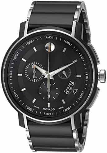 Movado Men's 0607006 Analog Display Swiss Quartz Black Watch