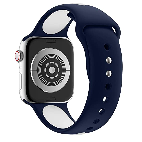 MYQyiyi 238mm Suave Reemplazo Correa de Silicona de Apple Watch Series 4 40MM: Amazon.es: Relojes
