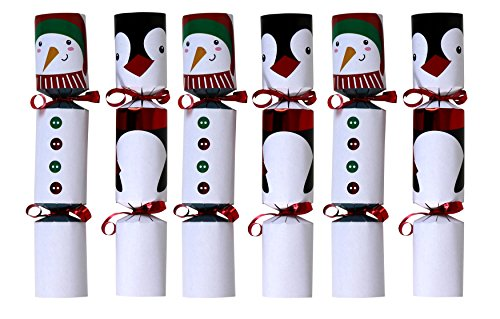 Christmas No-Snap Party Favor 9-Inch, 6-Pack (Snowmen & Penguins)