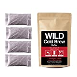 Cold Brew Coffee Kit, Brew-At-Home Wild Coffee Pouch made with Ground Organic Wild Coffee, Fair trade, Single-origin, Fresh roasted High-performance Coffee (Lumberjack Blend, 10 Pouch)